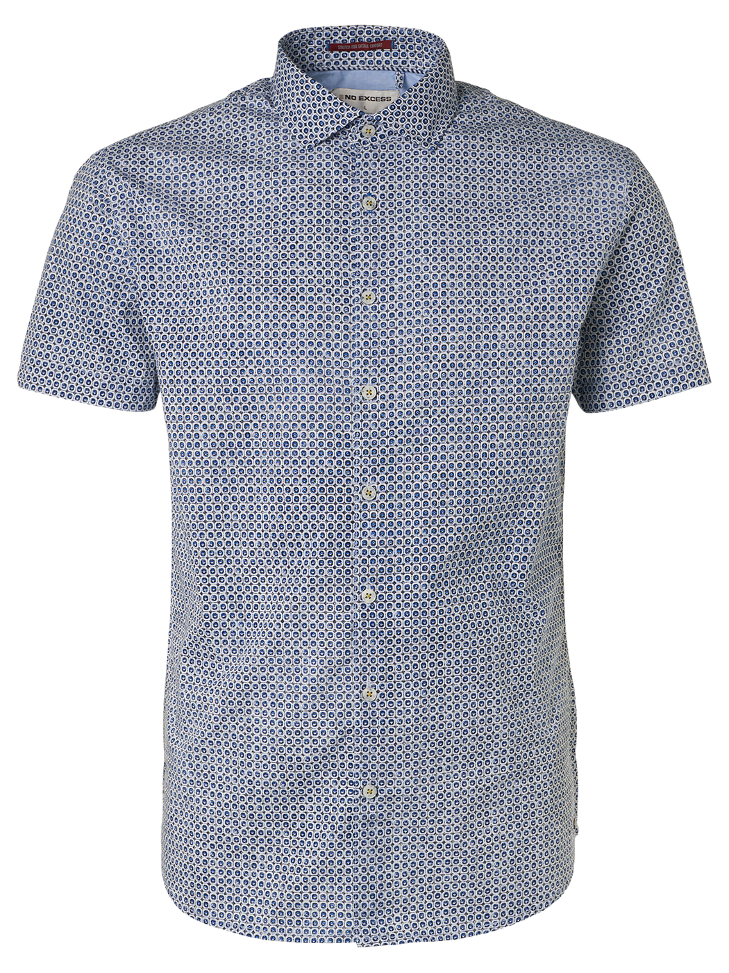 Mens S/S Print Shirt - Navy | Shop No Excess at Wallace and Gibbs