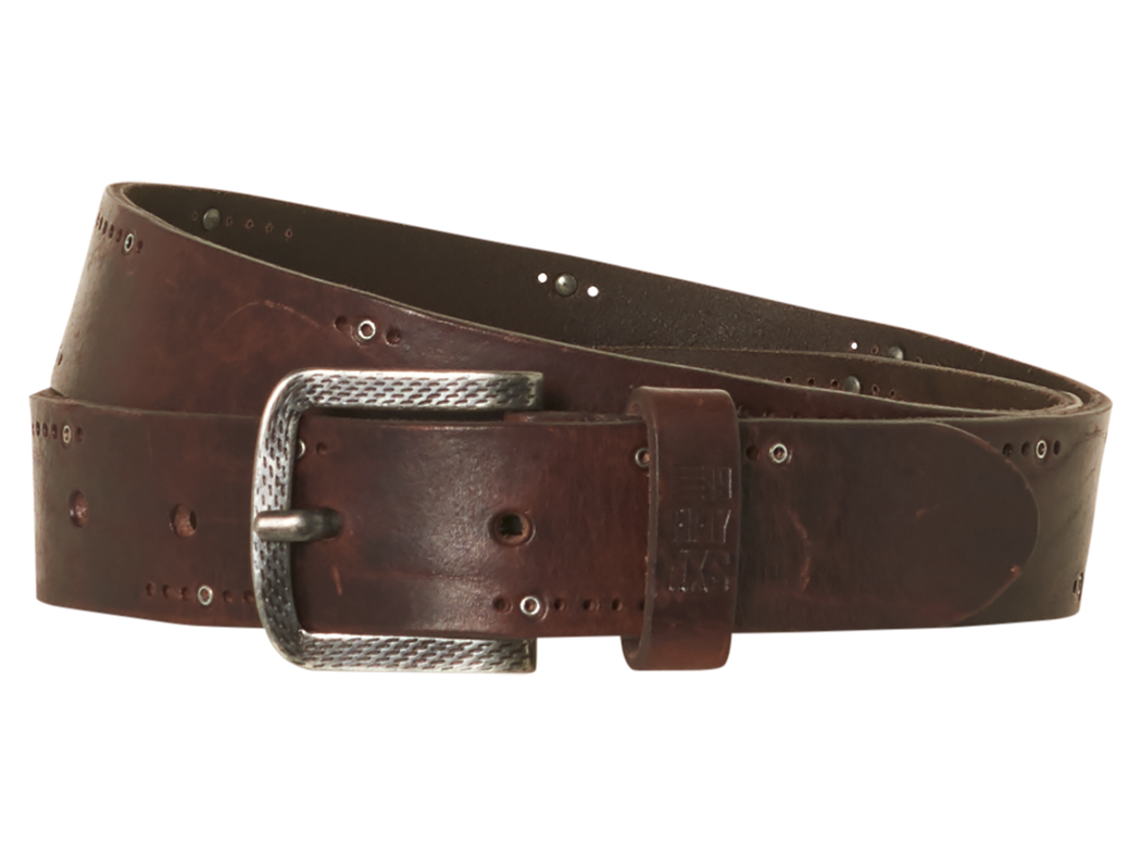 Mens Leather Buckle Belt | Shop No Excess at Wallace and Gibbs
