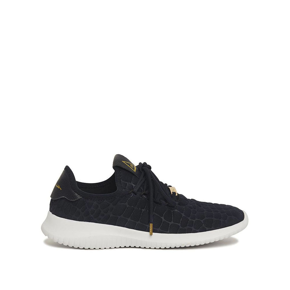 Jessica Trainer - Black Croc | Shop Kathryn Wilson at Wallace and Gibbs