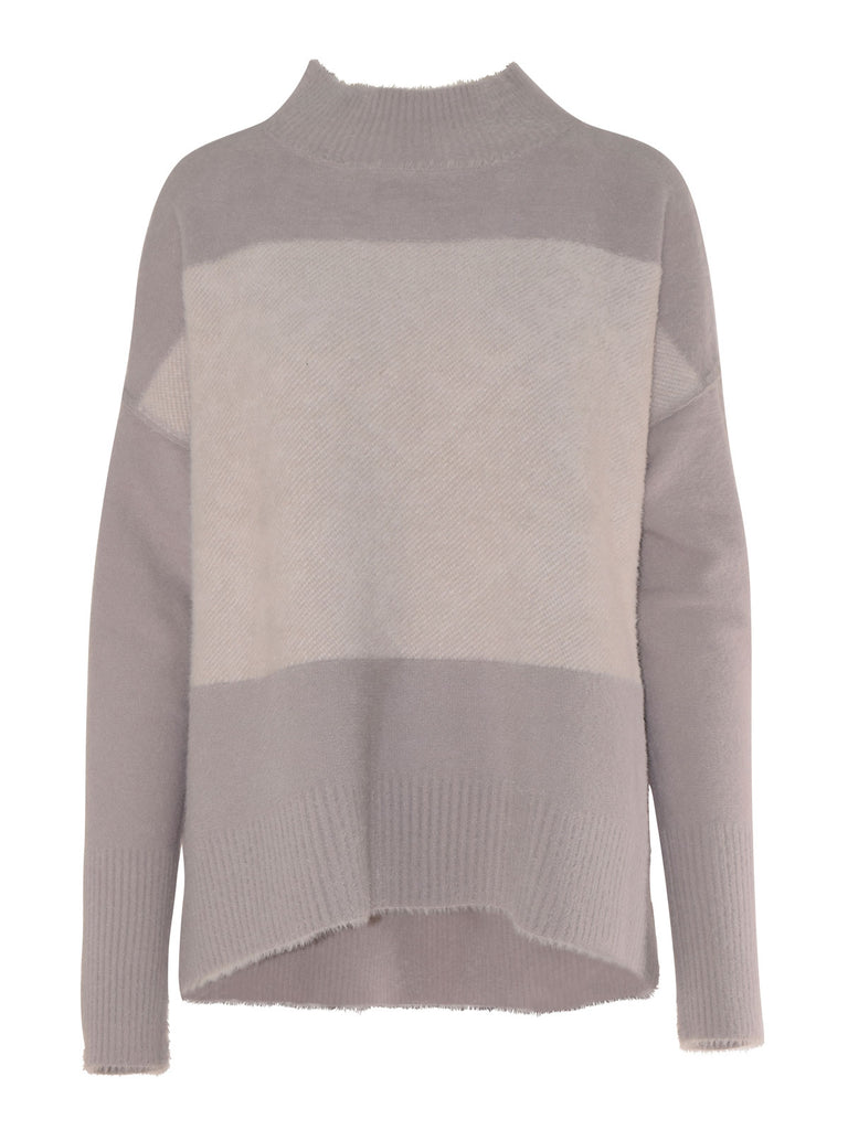 Isaac & Lulu Clara Reversible Polo Sweater - Pearl/Iv/Asph