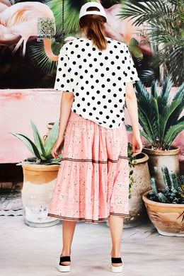 Curate Hot Summer Top - Black Spot