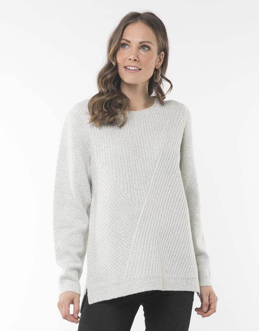 Elm Skylar Knit Greymarle | Shop Elm at Wallace & Gibbs NZ