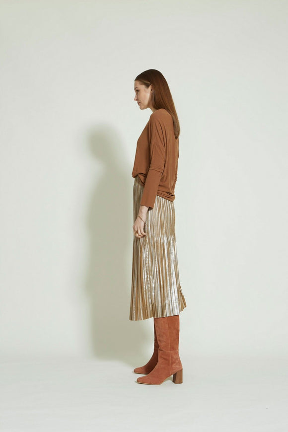Sills Marta Plea Skirt Bronze | Sills in NZ Wallace & Gibbs