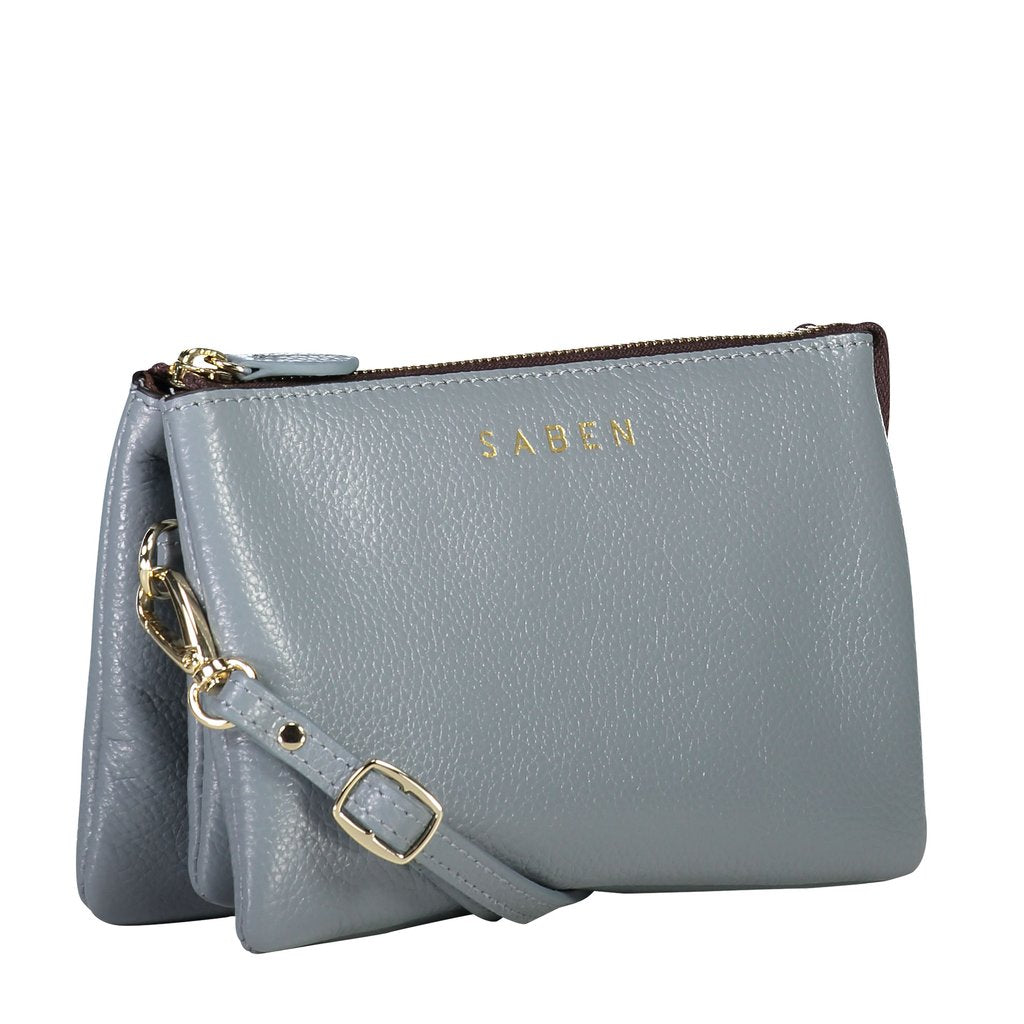 Tilly with Strap - Grey Blue