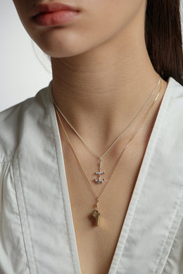 Karen Walker Anchor Necklace | Shop at Wallace and Gibbs NZ