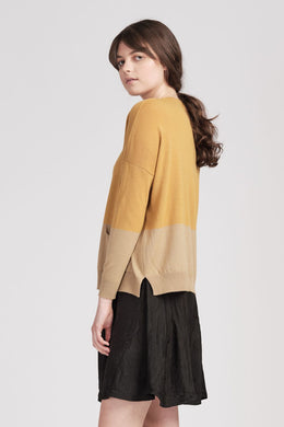 From Meg Cardi Burnt Oatmeal/Honey | Shop online | NZ Made knitwear