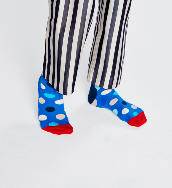 Big Dot Sock Blue | Happy Socks | Shop at Wallace and Gibbs in NZ
