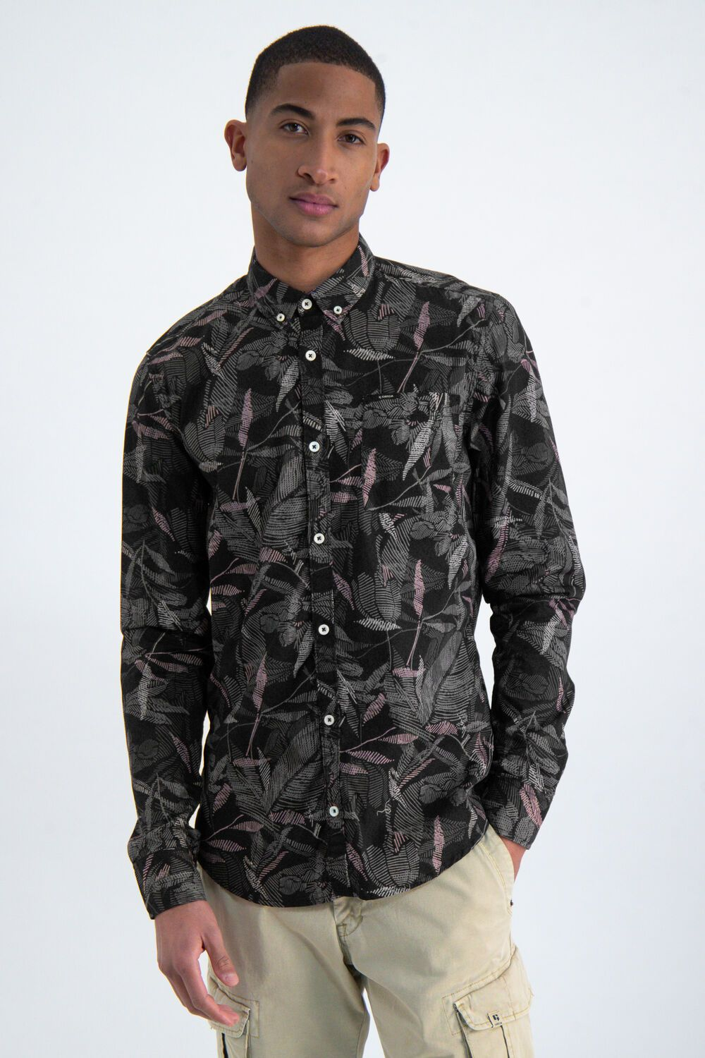 Mens L/S Shirt - Shadow | Shop Garcia at Wallace and Gibbs