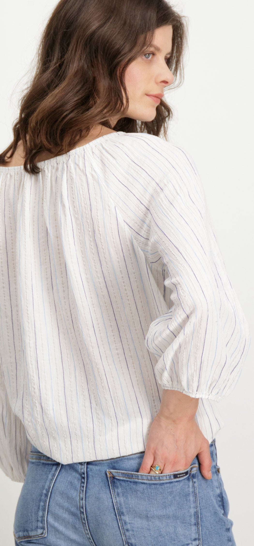 Garcia Blouse - Off White | Shop Garcia at Wallace and Gibbs