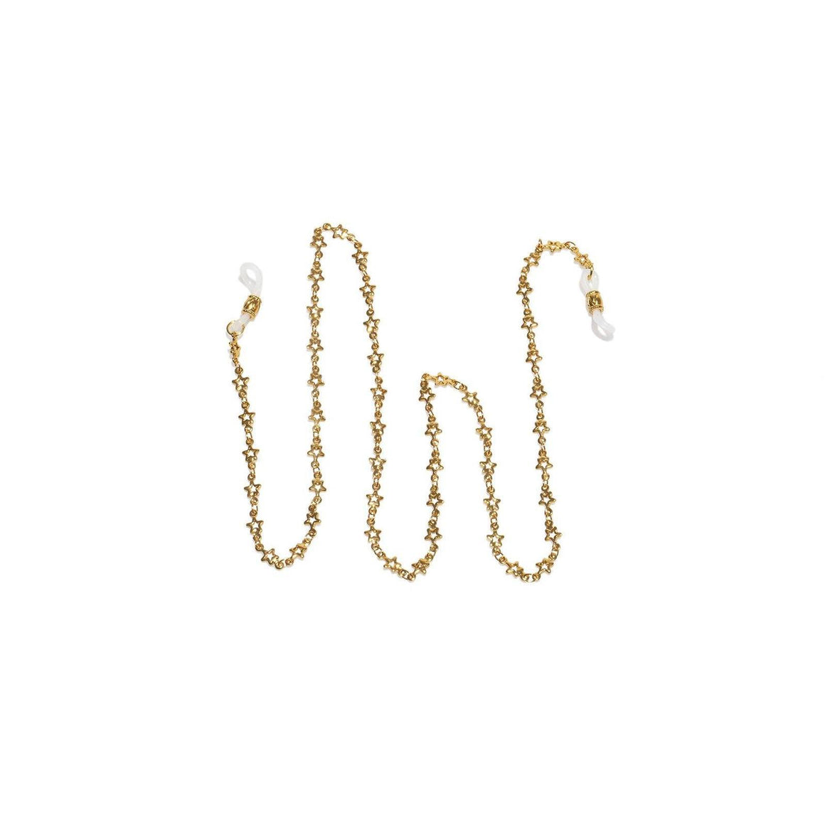 Le Specs Neck Chain Gold Star shop online or in store at Wallace&Gibbs