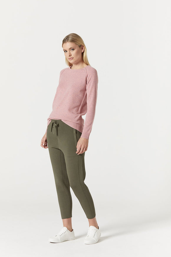 Pure Cashmere Crew Jumper Musk Marle | Shop Cable Wallace and Gibbs NZ