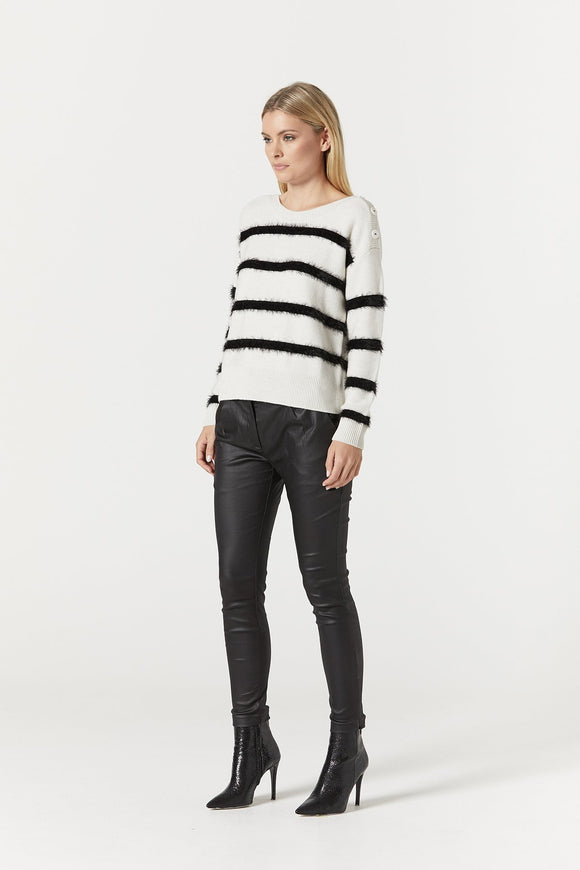 Cable Georgia Stripe Jumper | Shop Cable at Wallace and Gibbs NZ