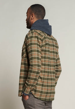 Mens Check Flannel Shirt - Army | Shop Dstrezzed at Wallace and Gibbs
