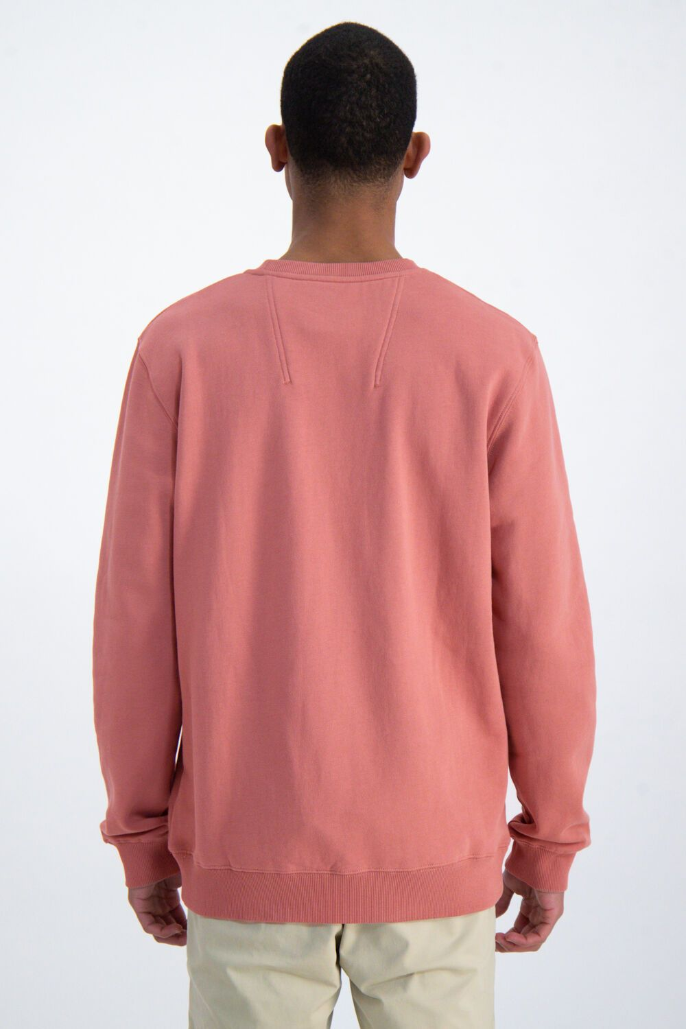 Mens Sweater Coral Pink | Shop Garcia at Wallace and Gibbs