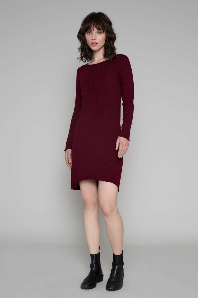 Standard Issue Crepe Dress - Beetroot