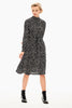 Garcia Midi Dress - Black Print | Shop Garcia at Wallace and Gibbs
