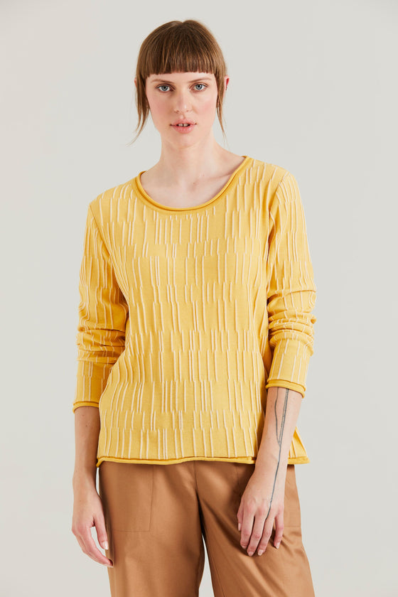 Standard Issue Terrace Sweater - Honey/White