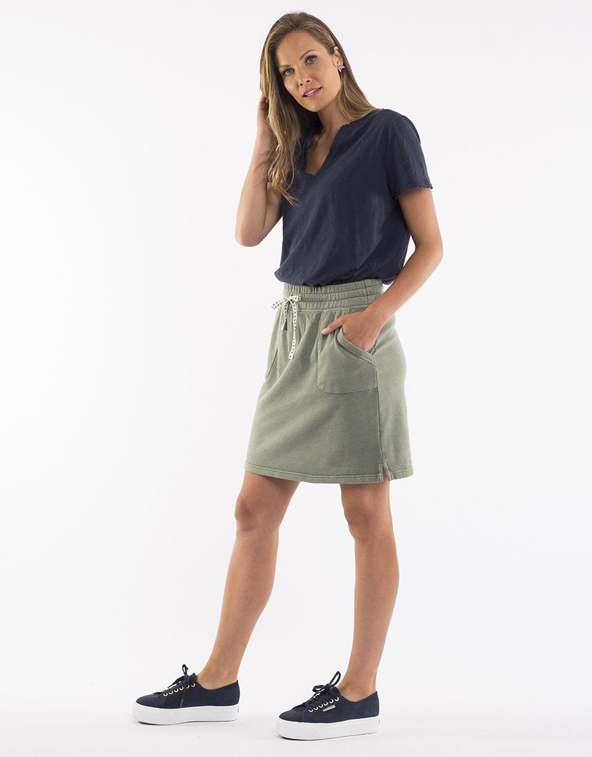 Elm Cassie Skirt - Khaki | Shop Elm at Wallace & Gibb