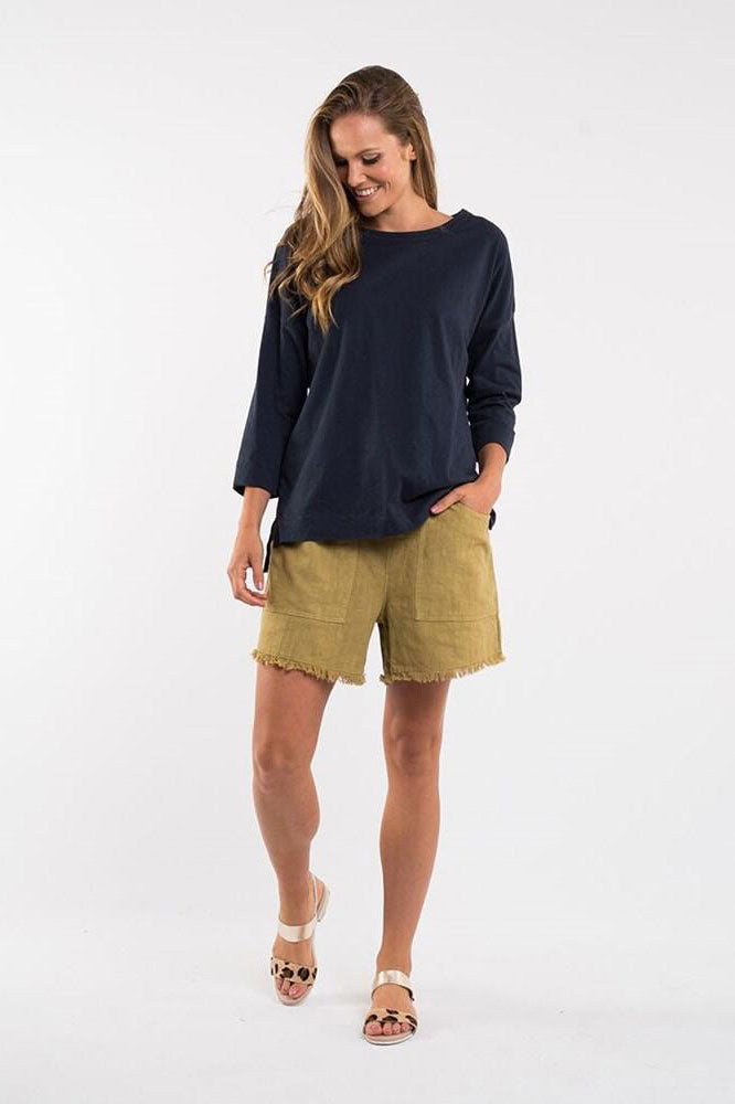Elm Woodlands Short Mustard | Shop Elm at Wallace & Gibbs NZ