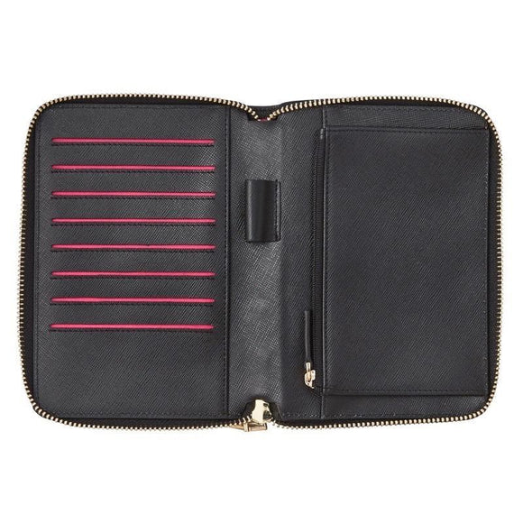 Emma Wallet - Black Saffiano | Shop Arlington Milne Wallace and Gibbs