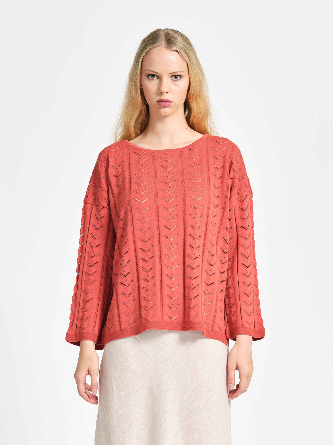 From Florence Top - Tamarillo | Shop online | NZ Made knitwear
