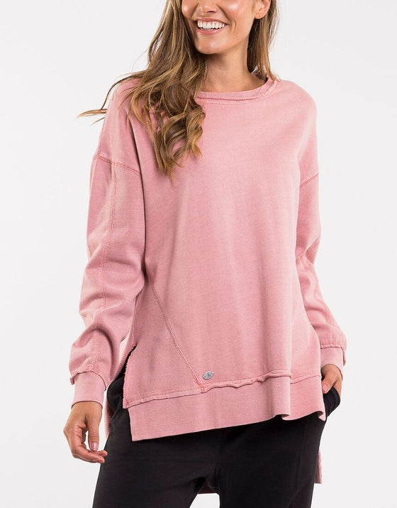 Foxwood Fleur Crew Pink | Shop Foxwood Wallace & Gibbs Arrowtown NZ