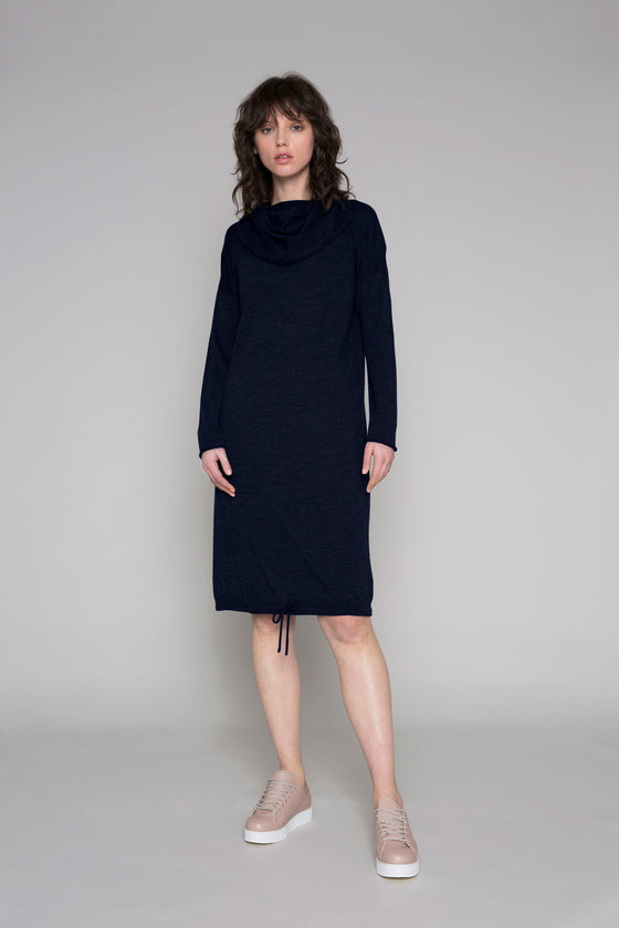 Standard Issue Funnel Neck Dress - Navy