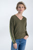 Womens Pullover - Olive Green | Shop Garcia at Wallace and Gibbs