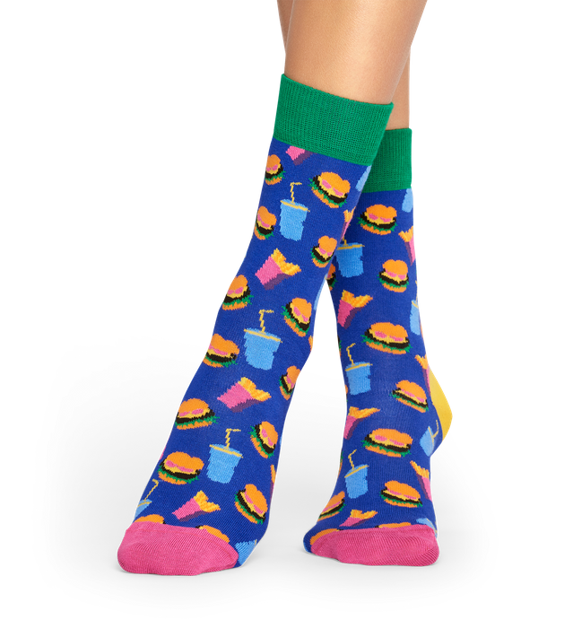 Hamburger Socks - Blue