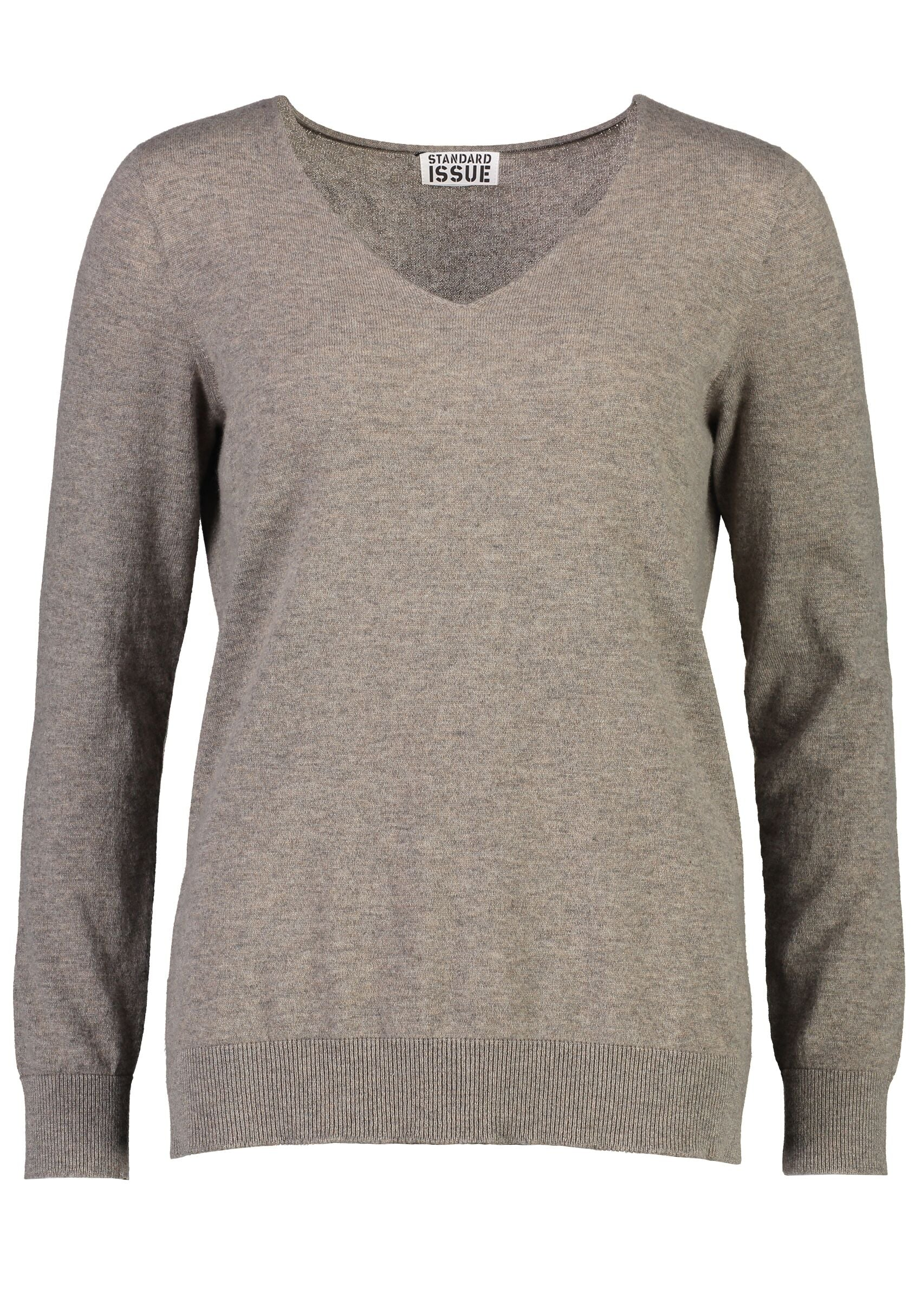 cheap for discount ba3a9 670f2 Standard Issue Cashmere V Neck - Peppercorn