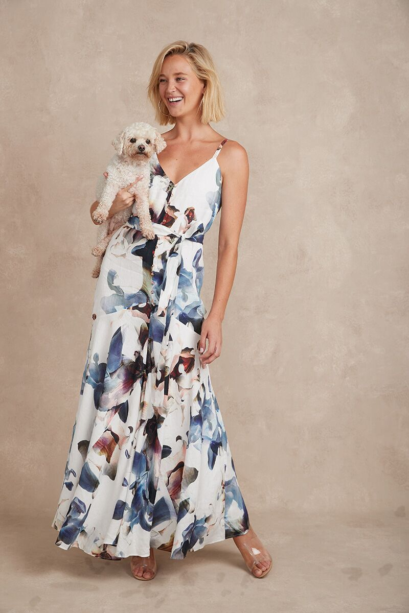 Eddie Maxi Dress Bloom | Shop Arlington Milne at Wallace and Gibbs NZ