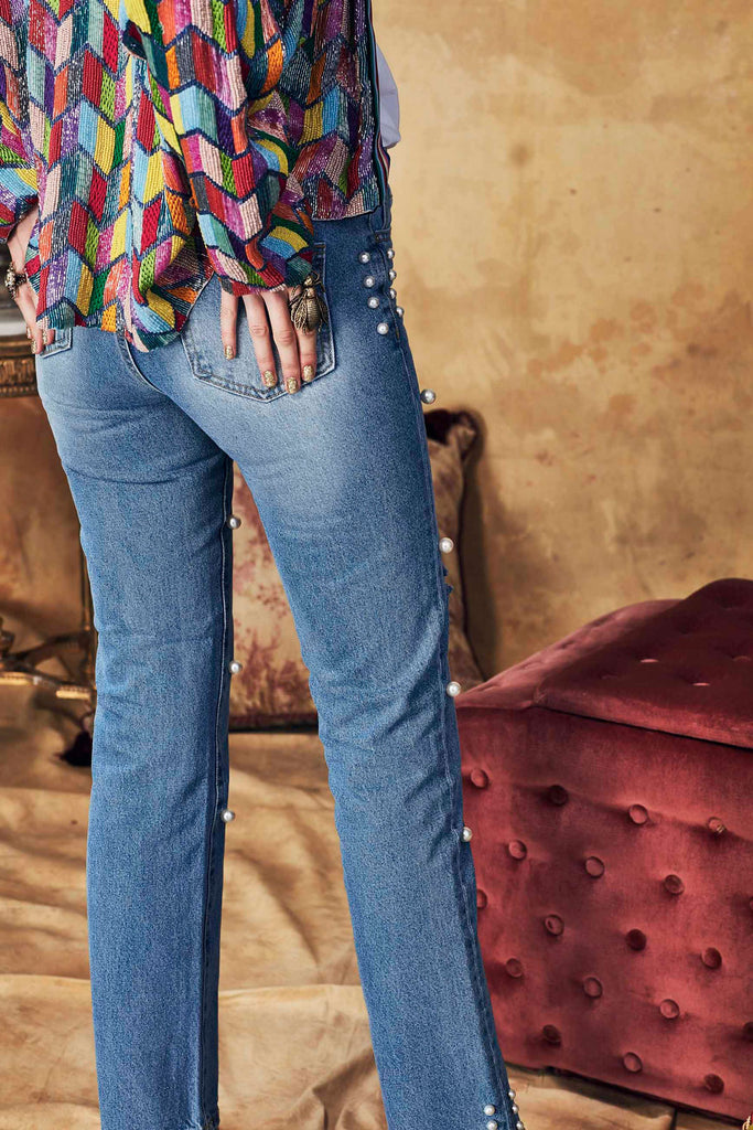 Trelise Cooper Power Pearl Jeans - Blue
