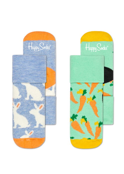 Kids 2-Pack Bunny Terry Socks | Happy Socks at Wallace and Gibbs in NZ