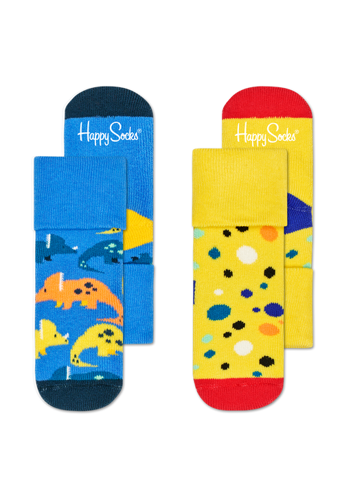 Kids 2-Pack Dinosaur Terry Socks | NZ Happy Socks at Wallace and Gibbs Arrowtown