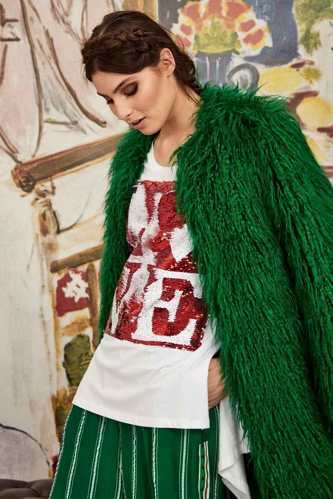 To Fur With Love Coat - Green | Shop Curate online at Wallace & Gibbs