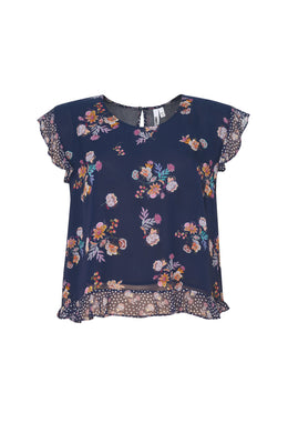 Loobies Story Salsa Top - Indigo Multi | Shop at Wallace and Gibbs NZ