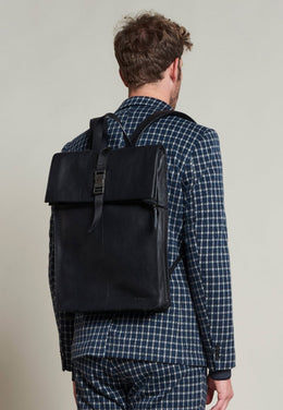 Leather Backpack - Black | Shop Dstrezzed at Wallace and Gibbs