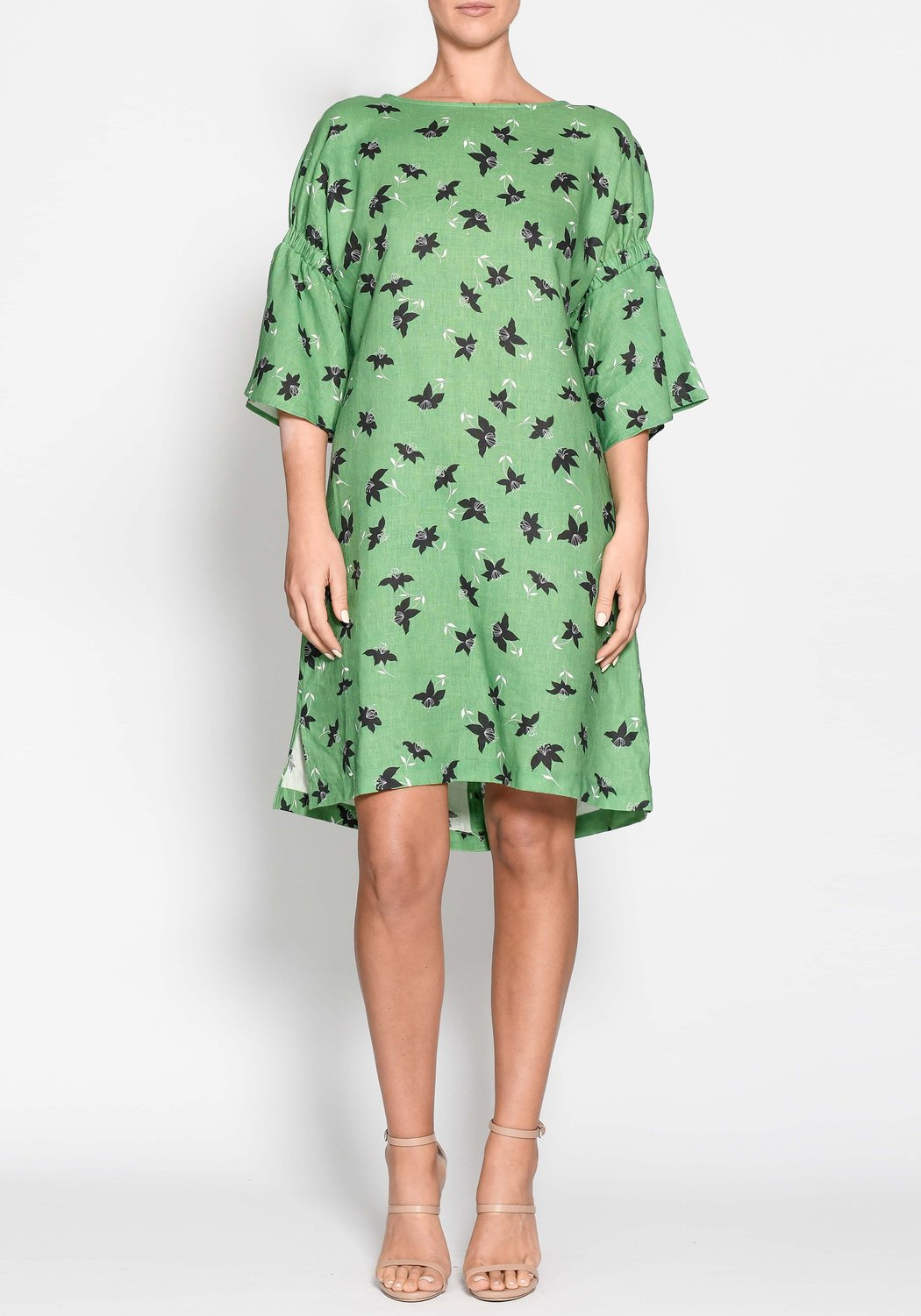 Lido Tunic Dress - Green Floral