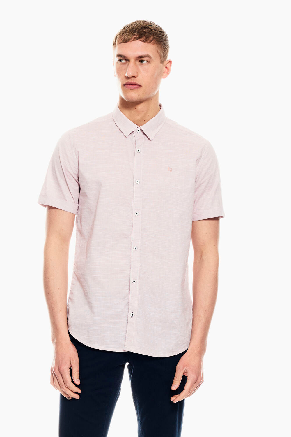 Mens SS Shirt - Light Pink | Shop Garcia at Wallace and Gibbs