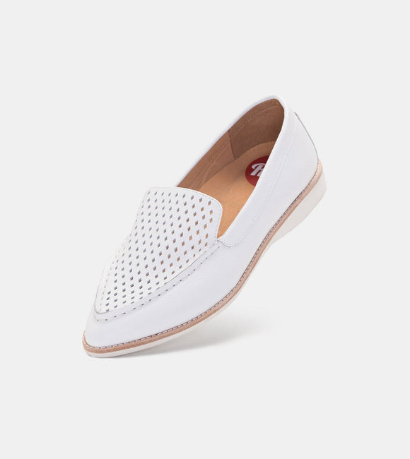 Madison Loafer Punch White | Shop Rollie at Wallace and Gibbs NZ