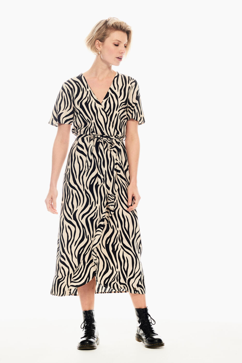 Womens Print Dress - Sandshell | Shop Garcia at Wallace and Gibbs
