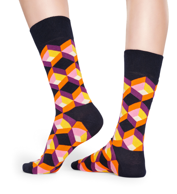 Optic Square Sock | NZ Happy Socks at Wallace and Gibbs in Arrowtown