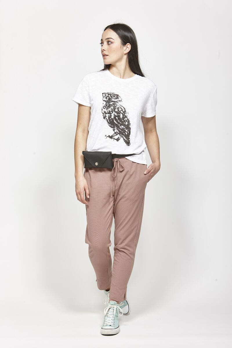 Ketz-ke Owl Tee White | Shop Ketz-ke at Wallace and Gibbs