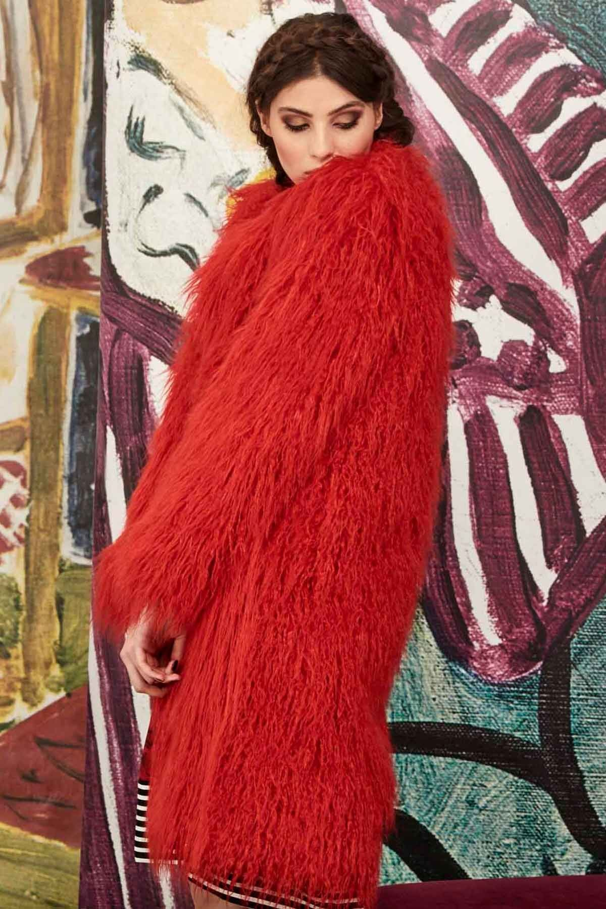 Curate To Fur With Love Coat - Red