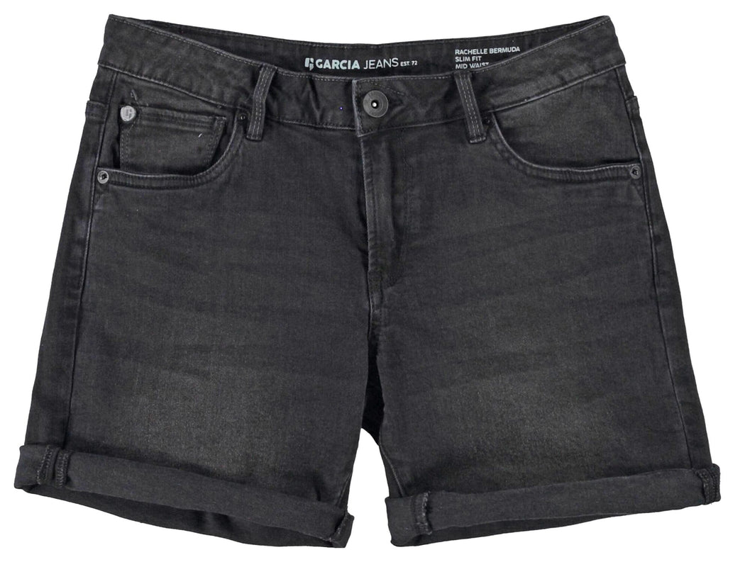 Rachelle Denim Shorts - Black | Shop Garcia at Wallace and Gibbs