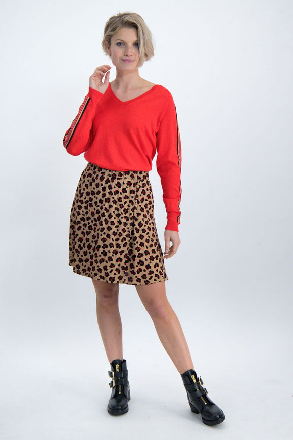 Womens Pullover - Poppy Red | Shop Garcia at Wallace and Gibbs