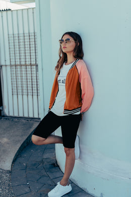 Et Alia Blaise Bomber - Rust/Pink | Shop at Wallace and Gibbs NZ