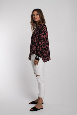 Et Alia Elsa Top - Rose Dawn Print | Shop at Wallace and Gibbs NZ