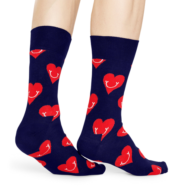 Smiley Heart Sock | Happy Socks | Shop at Wallace and Gibbs in NZ
