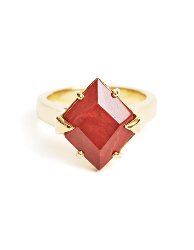 Red Jasper Ring Gold